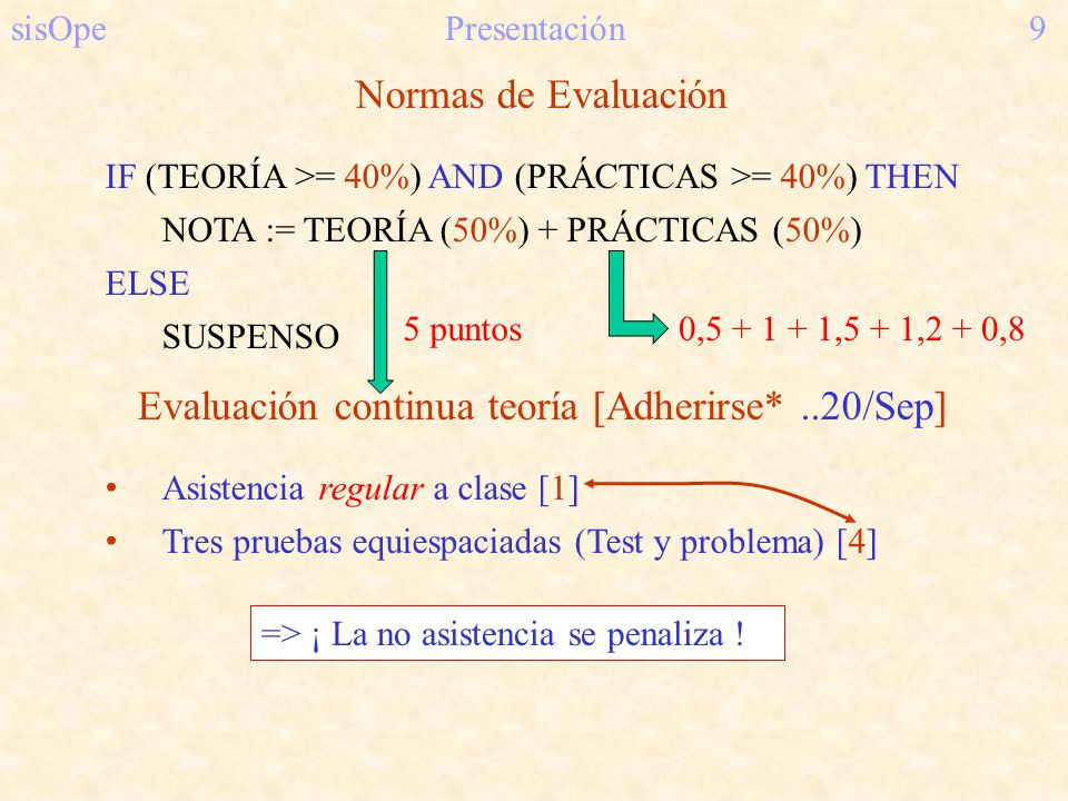 Evaluación continua teoría [Adherirse* ..20/Sep]